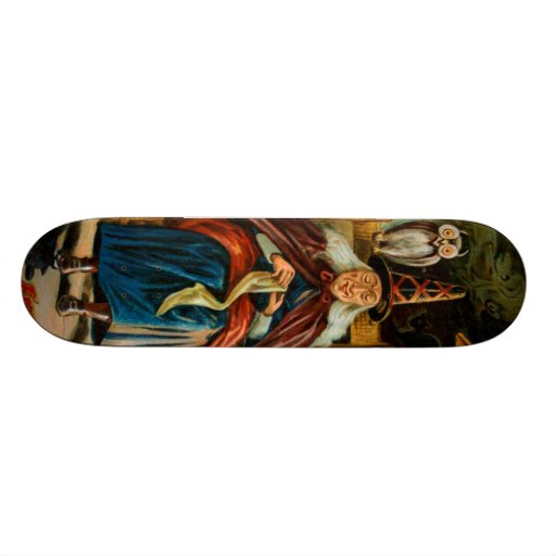 Witch at Fireplace Skate Board Decks