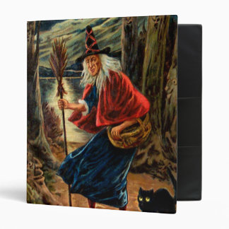 Witch at Halloween Night 3 Ring Binder