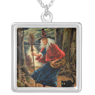 Witch at Halloween Night Custom Necklace