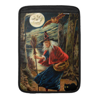 Witch at Halloween Night MacBook Air Sleeve