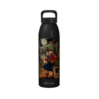 Witch at Halloween Night Reusable Water Bottle