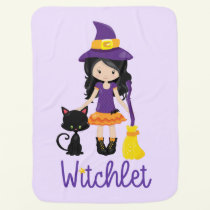 Witch Baby Blanket Halloween Baby Wicca Gift Magic