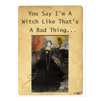 Witch Bad Funny Postcard
