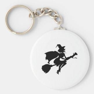 Witch Basic Round Button Keychain