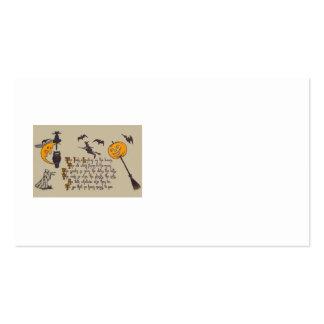 Witch Bat Owl Black Cat Jack O' Lantern Business Card