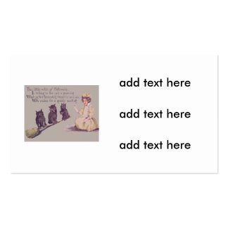 Witch Black Cat Broom Business Card
