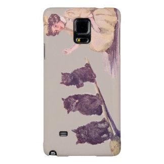 Witch Black Cat Broom Galaxy Note 4 Case