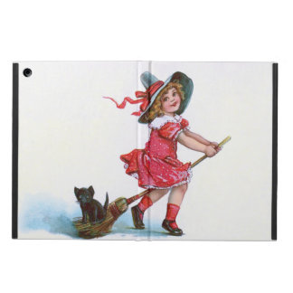 Witch Black Cat Broom iPad Air Covers