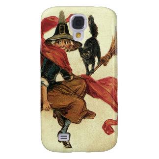 Witch Black Cat Broom Samsung S4 Case