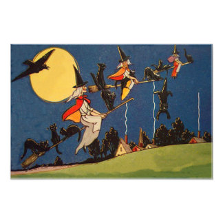 Witch Black Cat Flying Moon Crow Photo Print