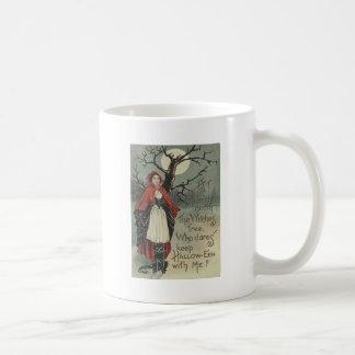 Witch Black Cat Full Moon Coffee Mug