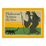 Witch Black Cat Greeting Cards