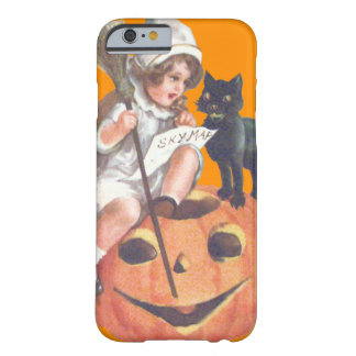 Witch Black Cat Jack O Lantern Pumpkin Barely There iPhone 6 Case