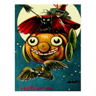 Witch & Black Cat Postcards