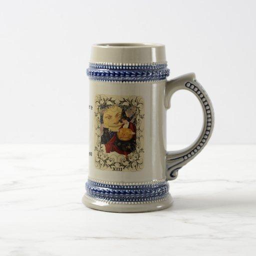 Witch & Black Cat Stein Coffee Mugs