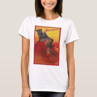 Witch Black Cat Vintage Halloween T-Shirt
