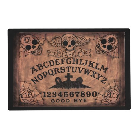 Witch board angel or sugar skull place mat
