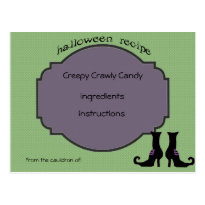 witch boots recipe post card
