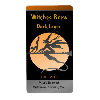 Witch Bottle Labels Custom Shipping Labels