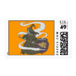 Witch breewing postage stamp