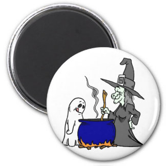 Witch Brewing Cauldron Magnet