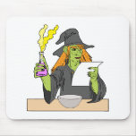 Witch brewing postion mouse pad