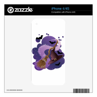 Witch broom and hat decal for the iPhone 4