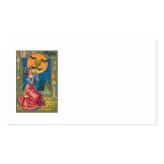 Witch Broom Bat Full Moon Candle Owl Business Card