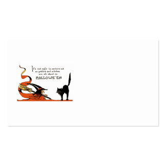 Witch Broom Black Cat Business Card