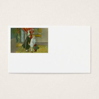 Witch Broom Children Costume Trick Or Treat Business Card