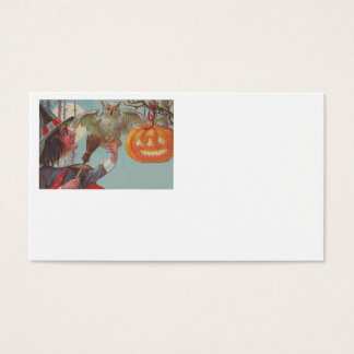 Witch Broom Jack O Lantern Owl Moon Business Card