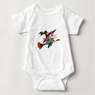 Witch broom witch broom baby bodysuit