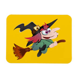 Witch broom witch broom magnet