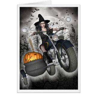 Witch Card - Biker Witch