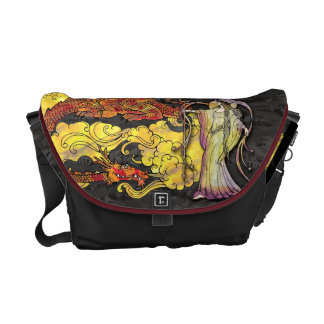 Witch Casting Spell on Dragon Messenger Bag