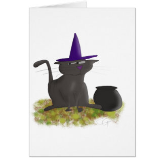 Witch Cat Blank Card
