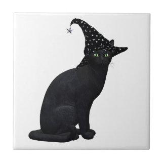 Witch Cat Ceramic Tiles