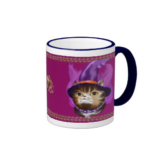 Witch Cat Face mugs
