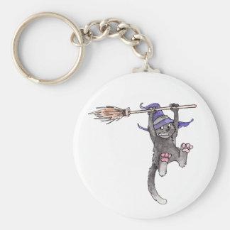 Witch Cat Keychain