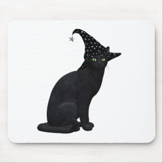 Witch Cat Mouse Pad