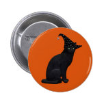 Witch Cat Pinback Button
