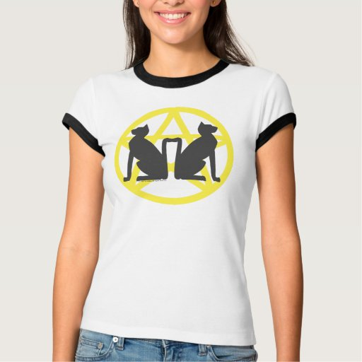 Witch Cats Ringer T T-shirt