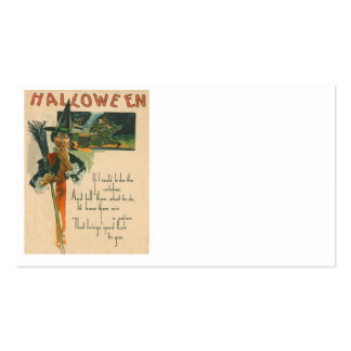 Witch Cauldron Broom Night Witchcraft Business Card