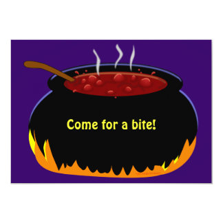 Witch Cauldron Halloween Party Invitation Template