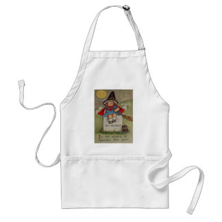 Witch Cemetery Tombstone Black Cat Moon Adult Apron