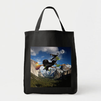 Witch chasing Ghost moon halloween bag