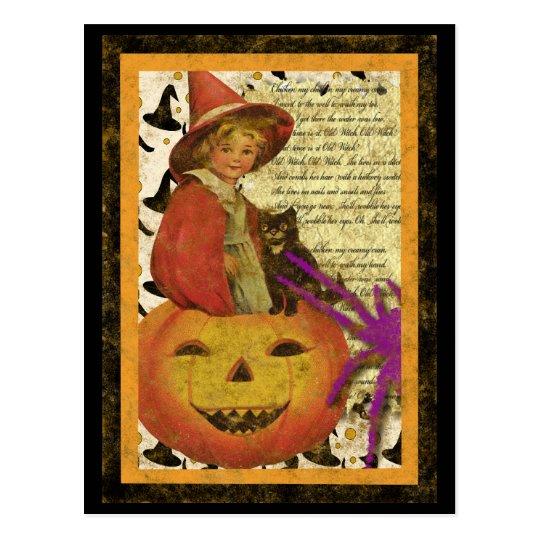 witch-child postcard