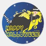 witch classic round sticker