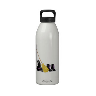 Witch Clothing Broom Water Bottle