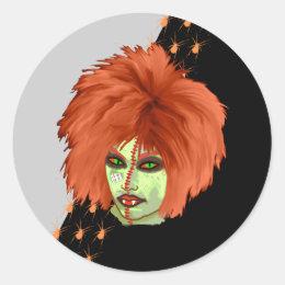 witch club classic round sticker